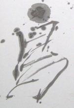 円舞する鳥:TOMMY筆の部分図「鳥」